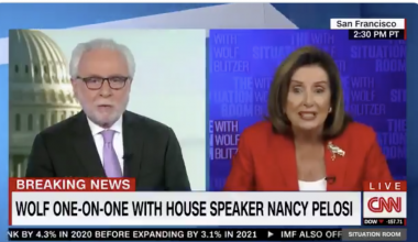 Hell Freezes Over: CNN's Blitzer Tears Pelosi To Shreds Over Starving American People, Queen P. Declares 'We Feed The People'